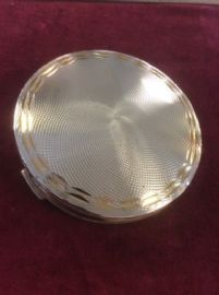 Silver Plated Powder Compact - Stratton circa 1960s to 1970s